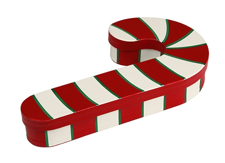 Candy Cane Gift Box with Sugar Free Assorted Candy