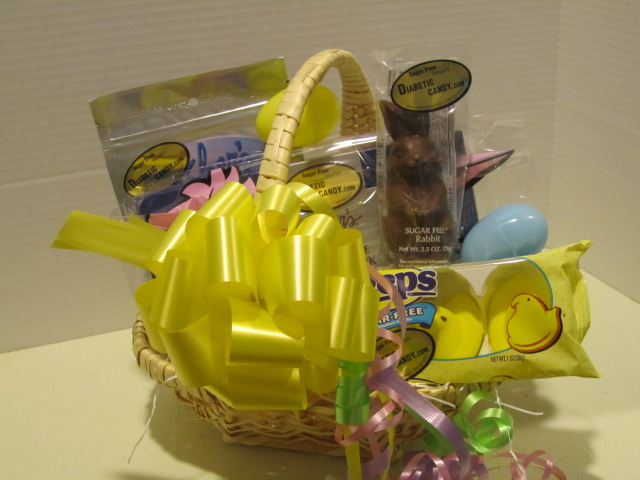 Sugar free easter gifts at diabetic candy easter basket sweets sugar free negle Images