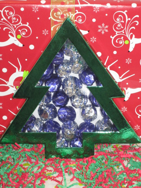 Christmas Tree Gift Box - combo Milk and Dark Chocolate Cordial Cherries Sugar Free
