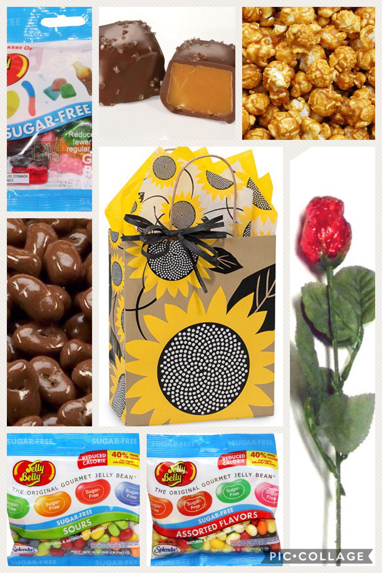 Sugar free mothers day gift ideas mothers day sunflower gift bag sugar free negle Gallery