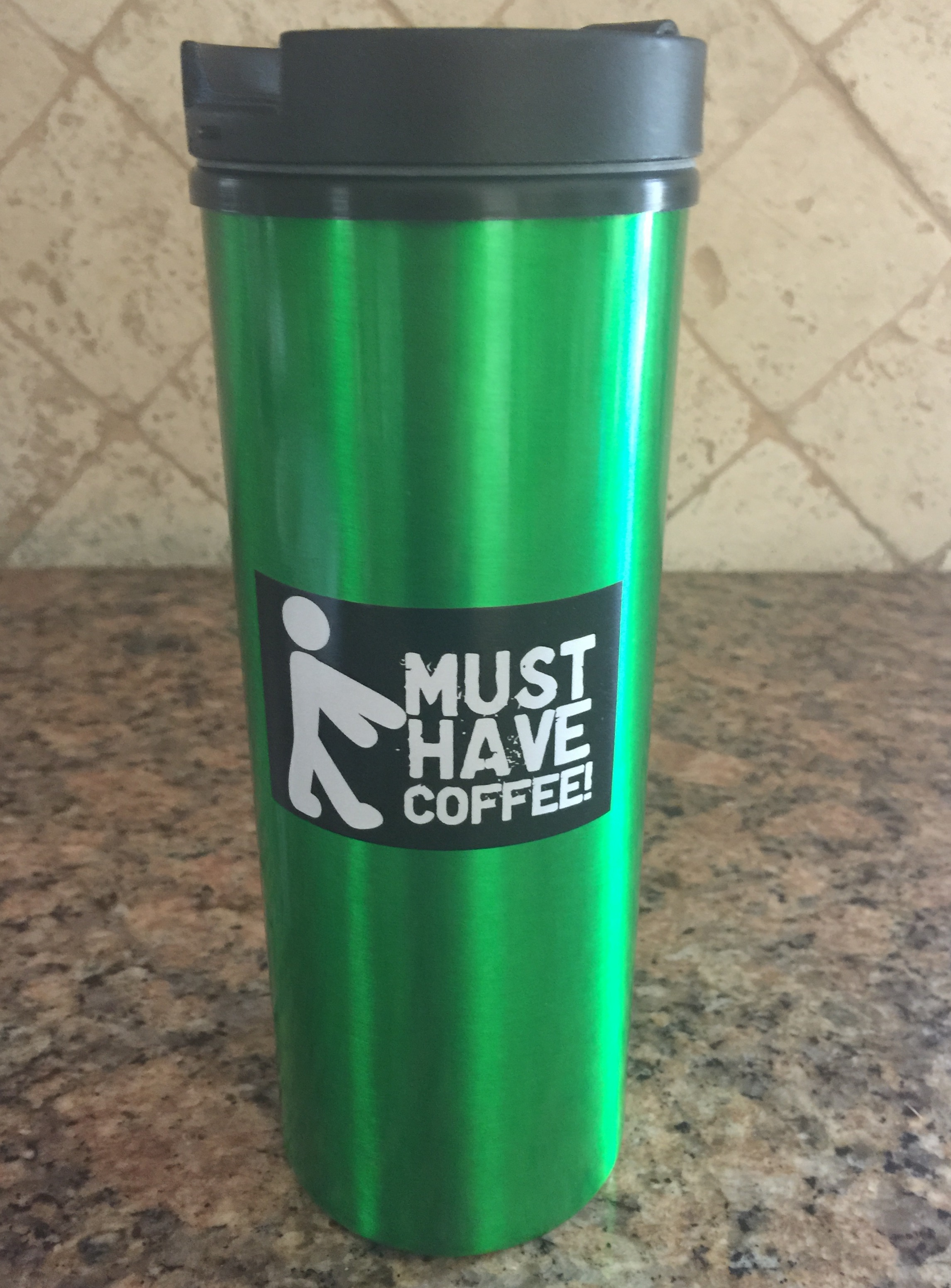 Must Have Coffee Travel Mug with Coffee sugar free hard candies