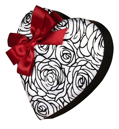 Sugar free valentines day gifts at diabetic candy etched rose heart 12 pound box of asst sugar free chocolates negle Image collections