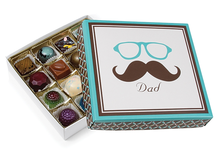 Sugar free fathers day gift ideas at diabetic candy dads moustache asst chocolate gift box sugar free negle Gallery