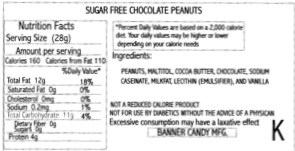 Peanuts Chocolate Covered Sugar Free