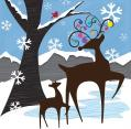 Santa's Reindeer Extra Large Gift Box Sugar Free